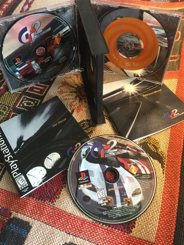 Sony Playstation 1 video games / GT2 Racing game 3 Disc with case and booklet