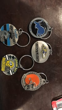 Pewter keychain lions, Packers, Ravens, browns,  Great Mills, 20634