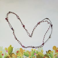 Jewelry: 3 Strand Pink Beaded Necklace