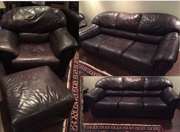 Used Leather Couch Set 4 Pieces For Sale In Vaughan Letgo