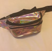 Rosa gold holographic Fanny pack Washington