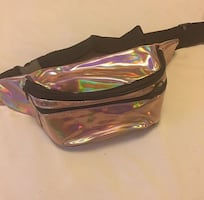 Rosa gold holographic Fanny pack