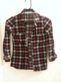 red and black plaid button-up shirt San Antonio, 78250