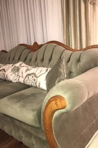 Vintage style 2  piece Sofa set with two side chairs.