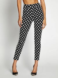 Guess 1981 3 Zip Crop Polka-Dot Jeans Burnaby, V5A 2C8