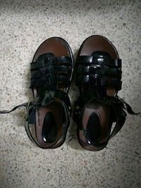 pair of black leather sandals Chandigarh, 160014