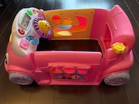 Baby Ride On Toy Educational Car Learning Pink