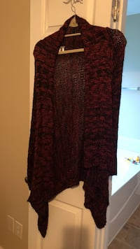 red and black knitted cardigan Winder, 30680