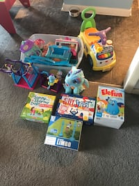 Girl and toddler toys and games