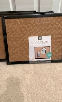 Wood frame decorative bulletin boards 4 pack