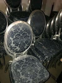 30 gray and blue floral padded chairs Towson, 21286