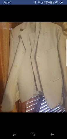 White pants suit for teenage boy WORN ONCE