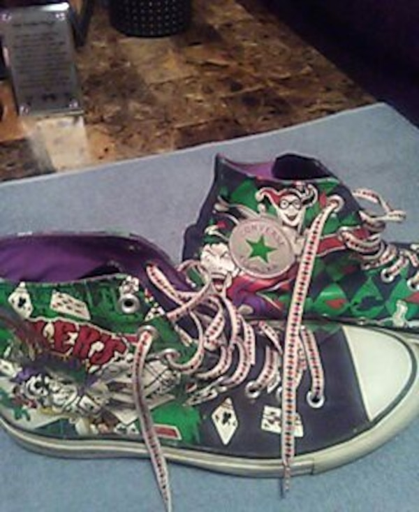 a7bc2b18c356 Used converse all star joker and harley quinn lace up h for sale in Tyler -  letgo
