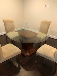 rectangular glass top table with six chairs dining set Gaithersburg, 20878