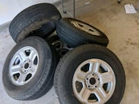 5 tires and rims (great quality)  Sacramento, 95827