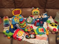 toddler's assorted plastic toys lots