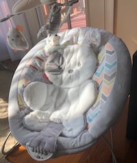 baby's gray and white bouncer 38 km