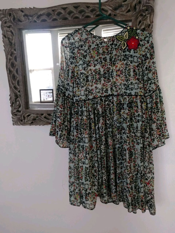badec2cb11 Used Bhanuni by Jyoti Anthropologie Floral Sheer dress for sale in ...