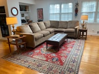 PRICE REDUCED: Bassett Sectional Couch with Queen Sleeper
