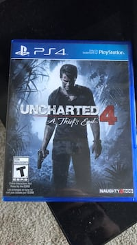 Uncharted 4 PS4 game case Toronto, M1W 2M6
