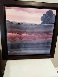 brown wooden framed painting of river Tallahassee, 32303