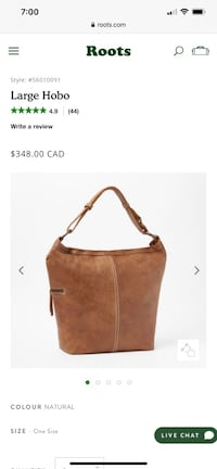 Roots large hobo bag in Tribe leather