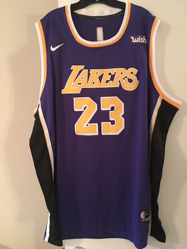 Used Custom made Lakers Lebron James jersey size 3XL for  75 for ... b77239685ce4