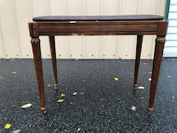 Lovely Vintage Kimball Leather And Wooden Piano Bench 334 mi