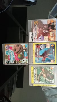Uncharted 1,2,3 PS3 + little big planet