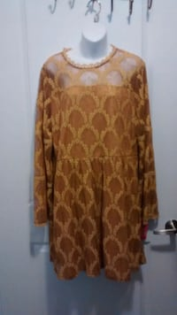 Mustard Gold Dress  XL