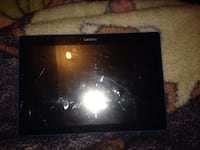 black Lenovo tablet PC with blue case Kitchener, N2P 1L8