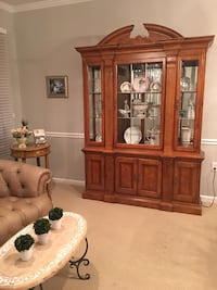 brown wooden framed glass display cabinet Gaithersburg, 20878