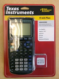 black Texas Instruments TI-83 plus Washington