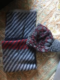 Gray, black, and red stripes scarf& hat Arlington, 22209