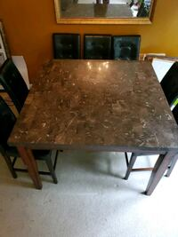 Bar height stone/marble Table top 36 inch height 7 chairs  District Heights, 20747