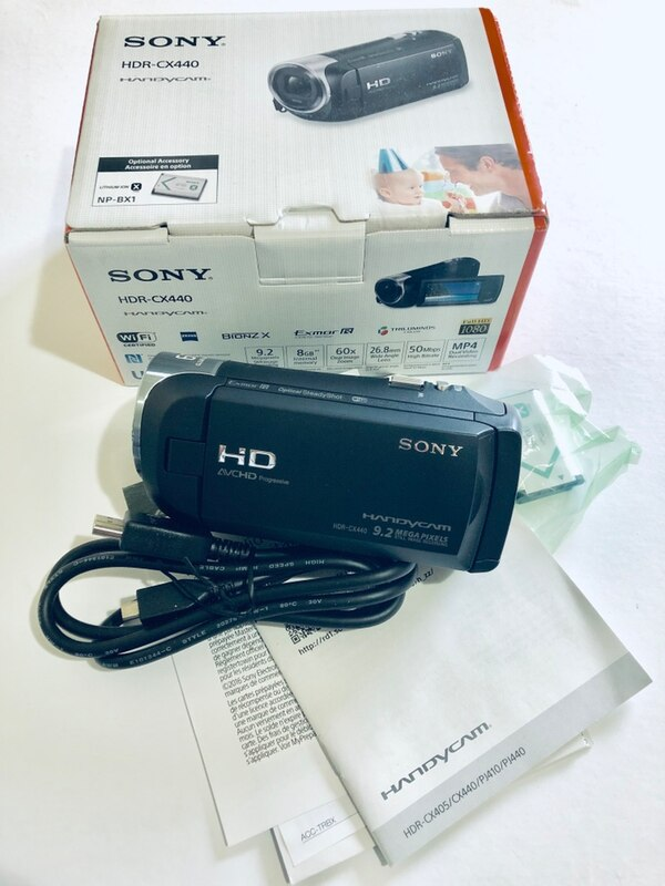 Sony HD Video Recording HDRCX440 Handycam Camcorder Full HD 30x Zoom - Black