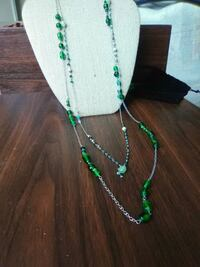green and white beaded necklace Seymour, 06483
