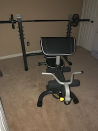 Gold Gym Olympic Weight Bench with 80 LB. Great Condition. Lorton, 22079