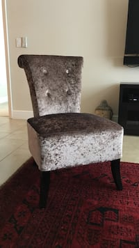Used Crushed Velvet Accent Chair For Sale In Boca Raton