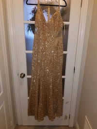 Gold sequin nina cotour custom dress. Size- Extra Large  Mississauga, L5M 6V9