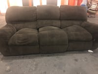 Dark Brown Corduroy Double Recliner Sofa (DELIVERY INCLUDED) Beaverton, 97005