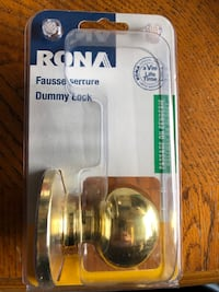 Rona brand - dummy locks - Gold in colour / multiple available