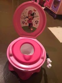 pink Minnie Mouse potty trainer