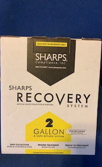 2 gallon sharps recovery container  New Egypt, 08533