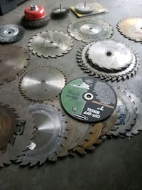 """Total of 23 saw blades ..anywhere from 6.5"""" up to"""