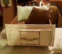 Small (brown pillow) Dog Bed Custom Made - Shabby Chic / Coastal 830 mi