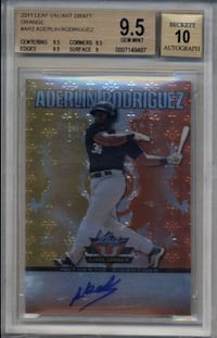 2011 Leaf Valiant Draft Orange Aderlin Rodriguez # AR2