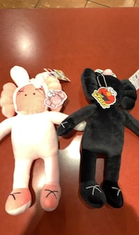 Black and pink stuffies