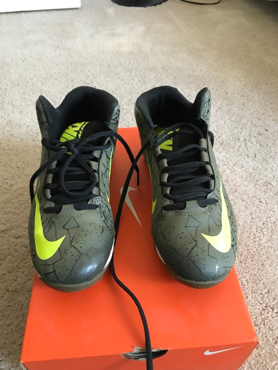 grey-and-green Nike Alpha shoes with box - CA