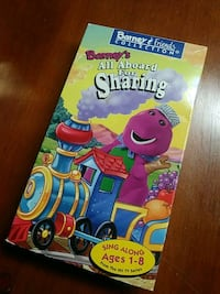 Barney's All aboard for sharing vhs